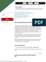 Optimizing PDFs in Adobe Acrobat Pro DC