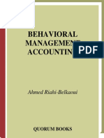Belkaoui Behavioral Management Accounting