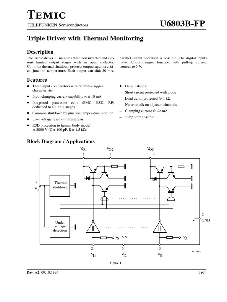 U6803b Computer Engineering Electrical Figure 5 Comparator Circuit With Hysteresis