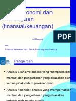 Aspek Ekonomi Dan Finansial