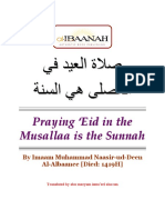 Praying Eid in Musallah