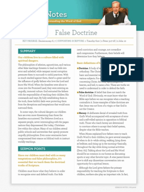 False-Doctrine pdf | Bible | Jesus