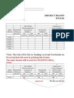 Phil-IRI Oral Hardcopy Format
