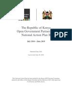 OGP Kenya National Action Plan II JUNE 2016