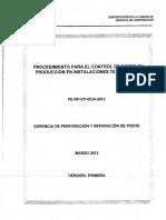 Proc de Control de Pozos - PE-RP-OP-0034-2012