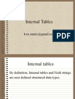 Internal Tables