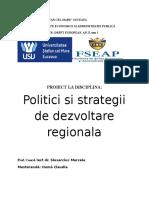 Proiect Politici de Dezvoltare Regionala