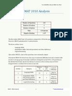 NMAT 2010 Analysis