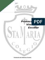 Protocolo de Violencia Escolar 2014