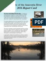 2016 Anacostia River Report Card