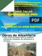 Obras de Albañilería (Ing. Carlos Villegas)