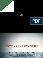 Idea Clave de La Critica La Finitud de La Razón.