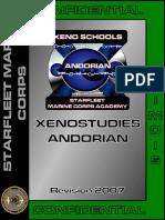 Xenostudies Andorian Manual
