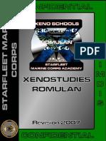 Xenostudies Romulan Manual