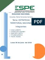Planificación Estratégica Territorial Nacional Con La Situación Actual Del País