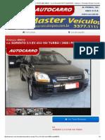 Kia Sorento 2.5 Ex 4x4 16v Turbo - 2008 - Preta Poa