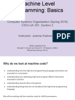 Lecture04 Machine Programming 1 Basics