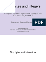 Lecture03 Bits Bytes Integers