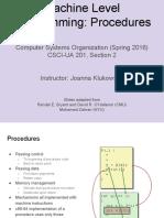 Lecture04 Machine Programming 3 Procedures