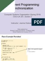 Lecture09 ConcurrentProgramming 02 Synchronization