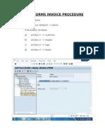 Smartforms Invoice Procedure