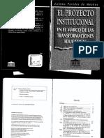 Proyecto Institucional en el Marco de las Transformaciones Educativas
