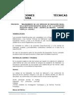 ESPECIFICACIONES TECNICAS- ARQUITECTURA