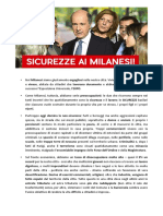 Sicurezza e lavoro, le priorità per Milano