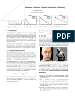 An Approximate Reflectance Profile for Efficient Subsurface Scattering