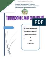 TRATAMIENTO DE AGUA CON RAYOS UV