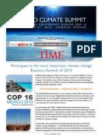 World Climate Summit - Brochure