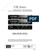 CSL Series Reference Manual 125168 Original