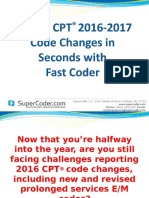 Master CPT® 2016-2017 Code Changes in Seconds with Fast Coder