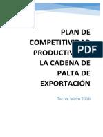 Estructura Del Plan de Competitividad Productiva Por Cadena Productiva de Palto
