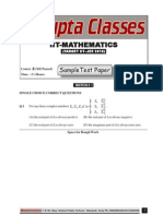 Sample Test Paper XII Passed