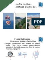 11_Forças Distribuidas - Centros de Massa e Centroides