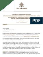 Papa Francesco 20151120 Formazione Sacerdoti