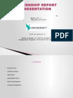 Internship Presentations