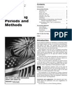 Accounting periods&Methods