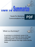 How to Summarize.ppt