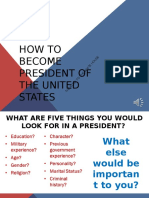 how to become president of the united states
