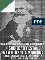 Bobbio, Norberto; Bovero, Michelangelo - Sociedad y Estado en La Filosofia Politica Moderna