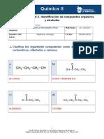 Identificación de Compuestos Orgánicos y Alcoholes
