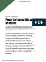 Procréation Politiquement Assistée - Libération