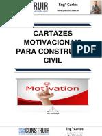 Cartazes Motivacionais para Construção Civil