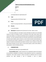 Informe de Actividad de Responsabilidad Social
