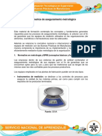 Fundamentos de Aseguramiento Metrologico