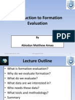 Introduction to Formation Evaluation