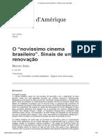 "O ""Novíssimo Cinema Brasileiro"""
