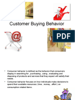 Customer Buying Behavior